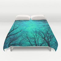 A Certain Darkness Is Needed II (Night Trees Silhouette) Duvet Cover by soaring anchor designs ⚓ | Society6