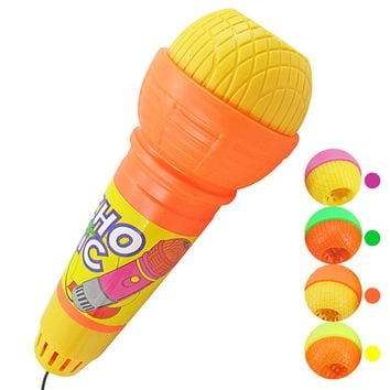Popular Plastic microphone toy Echo Microphone Mic Voice Changer Toy Gift Birthday Present Kids Party Song Kids toys