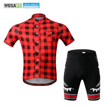 WOSAWE Retro Cycling Jersey Short Sleeve Breathable Cushion Bike Clothing for Men Ropa Ciclismo Summer Cycling Wear Clothes