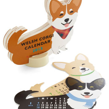 ModCloth Dog Year of the Critter 2015 Calendar in Corgi