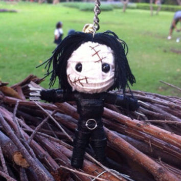 Edward Scissor Movie String Voodoo Doll Funny Keyring Keychain Key Ring Key Chain Bag Car Deco
