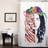 Katy Perry ROAR Eye Of The Tiger custom shower curtain