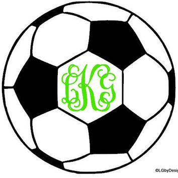 Soccer Ball Decal with Monogram