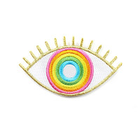Evil Eye Rainbow Patch