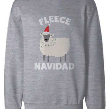 Feliz Navidad Christmas Sweatshirts Funny Holiday Pullover Fleece Sweaters