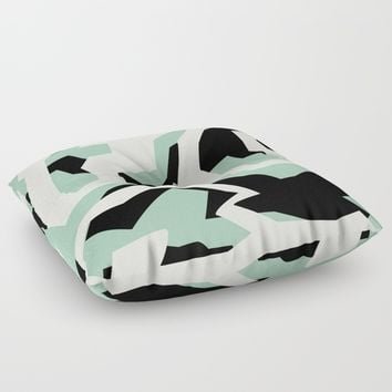 Camouflage:RAW Floor Pillow by Metron