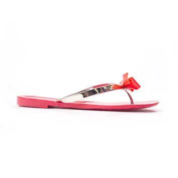 Coral Bow Sandals