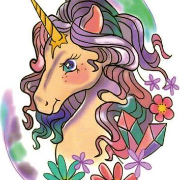 Large Tattoo Sticker  Unicorn