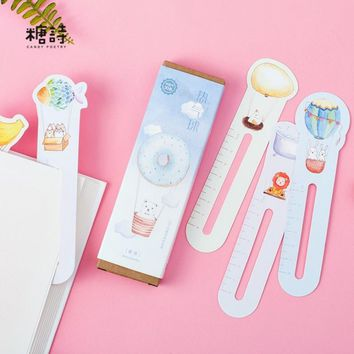 CANDY POETRY 30 pcs/box Hot Air Balloon paper bookmarks kawaii children stationery office school supplie papelaria kids gifts