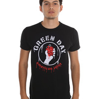 Green Day American Idiot Stencil T-Shirt