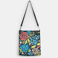 Folk Art Flowers Handbag, Live Heroes