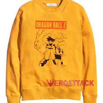 Dragon Ball Z gold yellow Unisex Sweatshirts