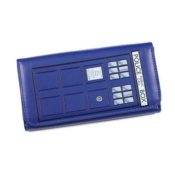 Doctor Who TARDIS Embossed Flap Wallet with Tag Good Quality and in stock