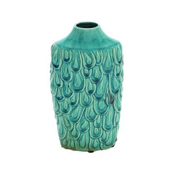 Peacock Feathers Vase