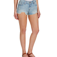 Levi's® Cut-Off Distressed Denim Shortie Shorts - Indigo Festival