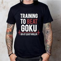 Dragon Ball Z T Shirt Training To Beat Goku - Krillin
