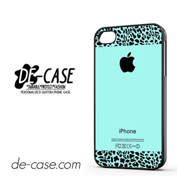 Tiffany Teal And Leopard Pattern DEAL-11237 Apple Phonecase Cover For Iphone 4 / Iphone 4S