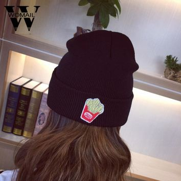 2017 Women's Hat Skullies Beanies Knitted Hats Black Beanie Hat Casual Women Beanies Hats New Arrival