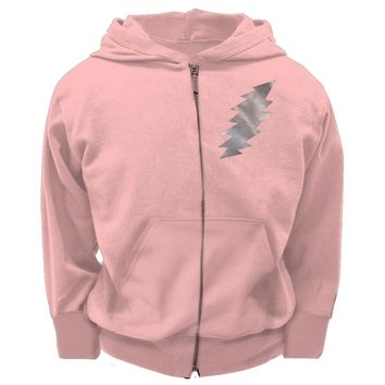 Grateful Dead - Foil Bolt Pink Youth Zip Hoodie - Youth