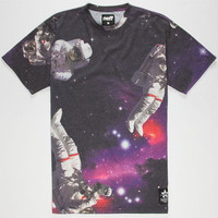 Neff Spaceman Mens T-Shirt Purple  In Sizes
