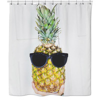 Swag Pineapple Shower Curtain
