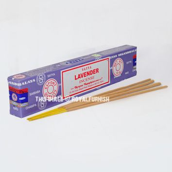 Satya Lavender Incense Sticks 15 Gram on RoyalFurnish.com