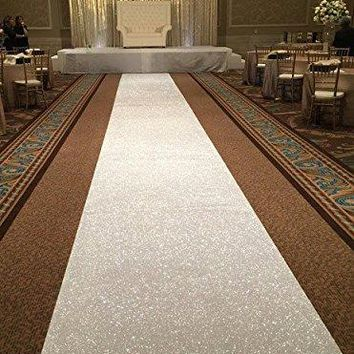 2017 New Popular 4FTx25FT White Wedding Aisle VIP Carpet Runner For Church Stage Hall Wedding Decoratin Carpet Aisle Runner Mats