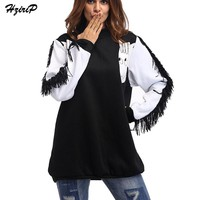 HziriP Cartoon Horse Printed Sweatshirt Women Hoodies
