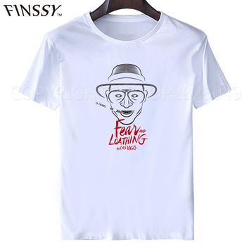 Fear and Loathing in Las Vegas t shirt hunters thompson, johnny depp, book, novel, movie Shirt Unisex fashion shirt for man XXXL