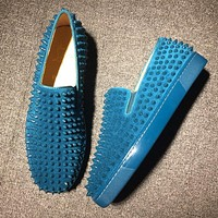 Cl Christian Louboutin Roller Boat Style #2096 Sneakers Fashion Shoes