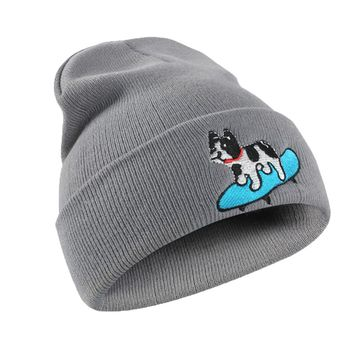 Cute Boy Girls Winter Baby Hat Women Men Dog print Pattern Knitted Hip Hop Warm Baggy Cap Hat Gorros Para Bebe#1