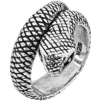 Coiled Snake - Silver Ring