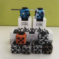 Magic Fidget Cube Decompression Toy 8 Designs Popular Anxiety Toys Adults Stress Relief Kids Toy With Retail Box 100pcs OOA1246