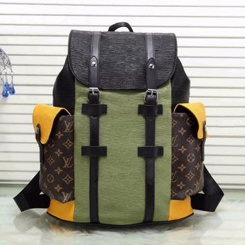 Louis Vuitton Backpack Splicing Color Bag Big Bag
