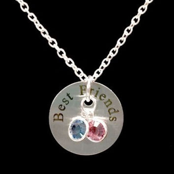 Birthstone Personalized Best Friends Gift Bff Friendship Necklace