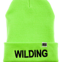 The Wilding Beanie in Neon Green