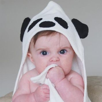 Bamboo Panda Hooded Towel