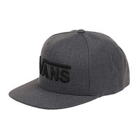 VANS - Vans Hat - Drop V Snapback - Black/Black - One Size