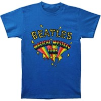 Beatles Men's  Magical Mystery Tour Logo T-shirt Blue Rockabilia