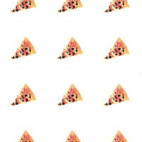 Pizza Smelly Stickers ( 2 Sheets of 8 )