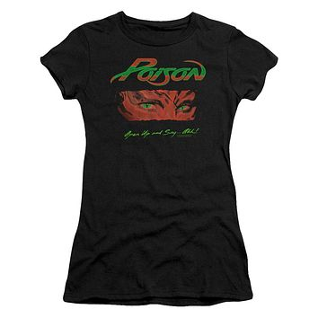 Poison Juniors T-Shirt Open Up and Say Ahh Black Tee