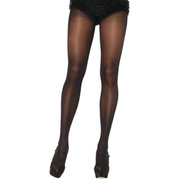 Tights Opaque Sheer Waist Blac