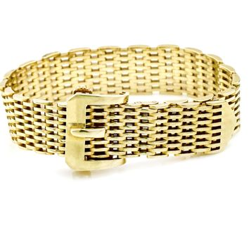 Tiffany & Co. Vintage 18k Yellow Gold Tang Buckle Bracelet