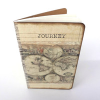 Travel Journal, World Map Journal, Travel Notebook, Journey, Old World Map, Wanderlust Journal, Travel Log Diary