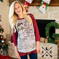 Adults It's The Most Wonderful Time of the Year Raglan