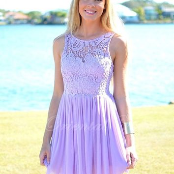 Vestido madrinhas 2017 Lavender Lace Junior Bridesmaid Dress Short Wedding Party Gowns A-line Cheap Bride Maid of Honor Dress