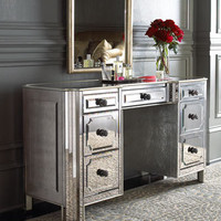 """Logan"" Mirrored Vanity/Desk - Horchow"