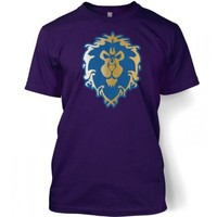 Something Geeky PP - Alliance Gold And Blue Logo T-Shirt - Inspired By World Of Warcraft
