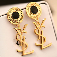 New YSL earrings, pearl and gold earrings
