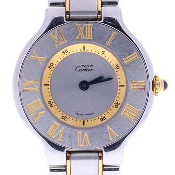 Cartier Must 21 automatic-self-wind womens Watch 1340 (Certified Pre-owned)